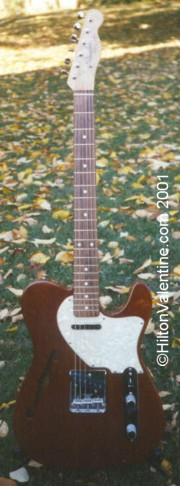 1997 Custom Fender Mahogany Thinline Telecaster - # 8 of 15